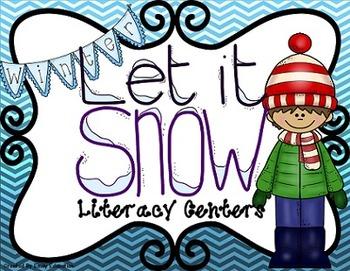 Let it Snow Winter Literacy Centers