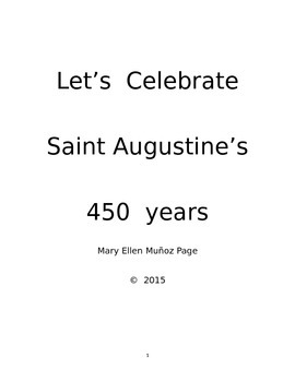 Let's Celebrate St. Augustine's 450 Years