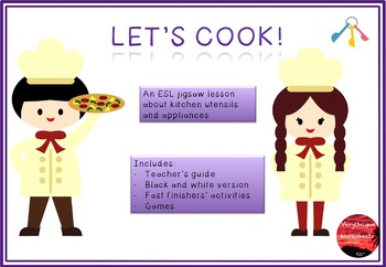 Let's Cook! Jigsaw Lesson - Kitchen Utensils and Appliances