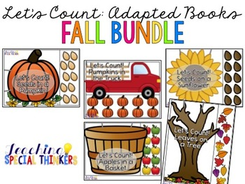 Let's Count: Adapted Books - FALL BUNDLE