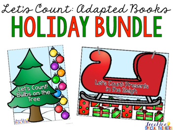Let's Count: Adapted Books - HOLIDAY BUNDLE