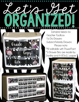 Editable Teacher Toolbox and More! {Melonheadz Zebra Print}