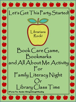 Let's Get This Party Started! Book Care Game, Bookmarks, A