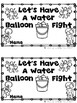 Let's Have a Water Balloon Fight  (Emergent Reader and Tea
