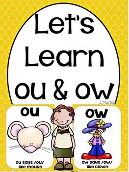 Let's Learn Ou & Ow (a phonics unit)