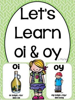 Let's Learn Oi & Oy ( a phonics unit)