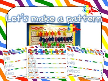Let's Make a Pattern Activity Sheets