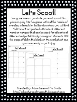 Let's Scoot: Scoot Templates!