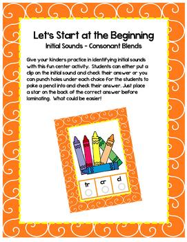 Let's Start at the Beginning - Consonant Blend Initial Let