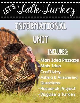 Let's Talk Turkey - Informational Unit {Main Idea Craftivi