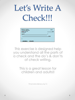 Let's Write A Check!!!