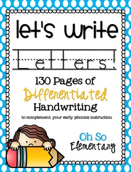 Let's Write Letters! Differentiated Handwriting