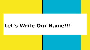 Let's Write Our Names