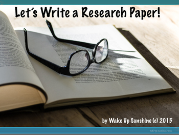 Let's Write a Research Paper!