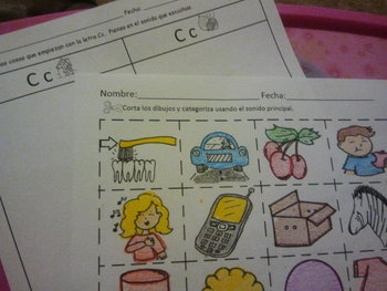 Letra Cc with sonidos /K/ & /S/ categorizing worksheet  Co