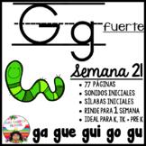 G g Fuerte ga, gue, gui, go, gu BUNDLE
