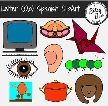 "Letra ""O,o"" Vocales. Clip Art para Vocabulario en español."