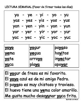 """Letra """"Y"""" (lectura Semanal)"""
