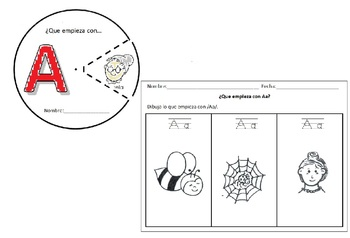 Letras del Alfabeto Spanish (25) Circles and drawing activ