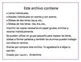 Letras y sílabas en español
