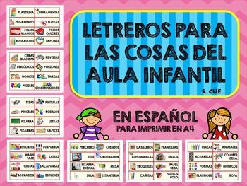 Letreros para Imprimir Materiales Educación Infantil en Es