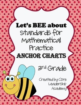 Let's BEE about Mathematical Practice~ Anchor Charts