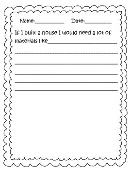 Let's Build Unit Writing Prompts with Illustrations FREEBIE