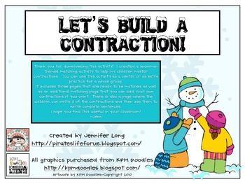 Let's Build a Contraction!~FREEBIE!