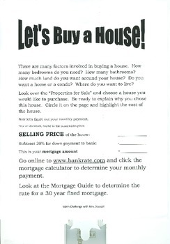 Let's Buy A House - Math Challenge Project
