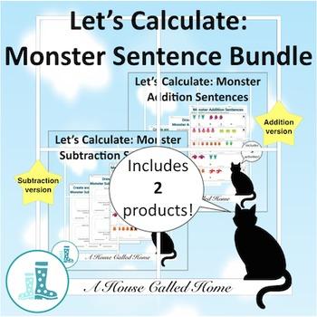 Let's Calculate: Monster Sentences Bundle