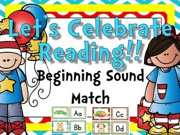 Let's Celebrate Reading {Beginning Sound Match}