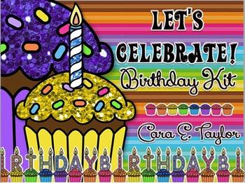 Let's Celebrate~Classroom Birthday Kit