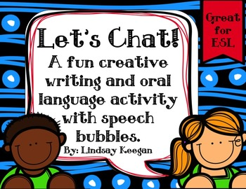 Creative Writing and Oral Language Fun with Speech Bubbles