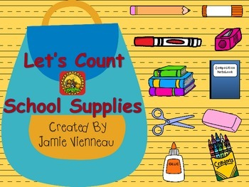 Let's Count Adapted Book: School Supplies