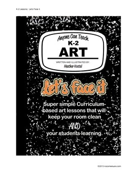 Let's Face It!  Easy to teach art lesson/project for subs