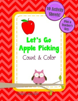 Let's Go Apple Picking - Counting, Addition, and Coloring Fun!