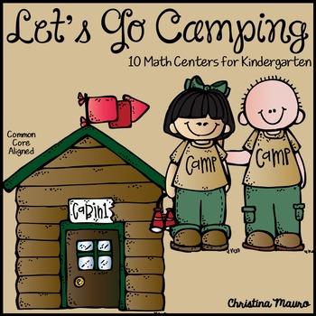 Camping Math Activities for Kindergarten