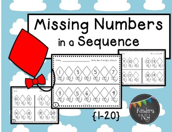 Missing Numbers in a Sequence, 1-20;  Common Core Aligned;