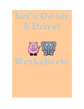 Let's Go For A Drive! Worksheets