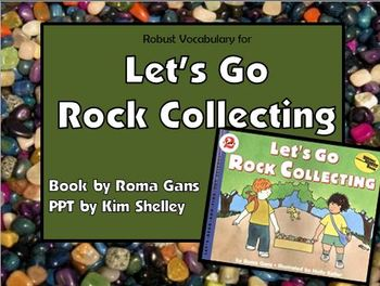 Let's Go Rock Collecting Interactive Vocabulary PPT