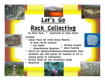 Let's Go Rock Collecting Small Group Reading/Science Lesson Plans