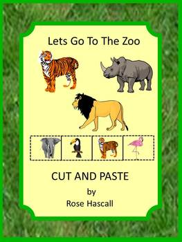Zoo Animals Kindergarten Math & Literacy Centers Cut & Pas