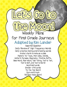 Let's Go to the Moon!  Lesson Plans and Suppemental Materi