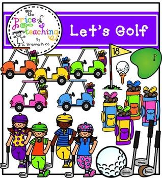 Let's Golf Clipart Set