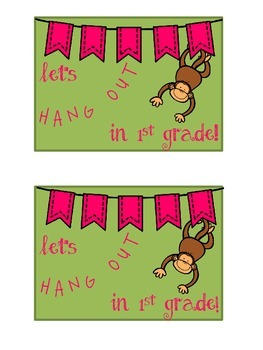 Let's Hang Out In 1st Grade Postcard