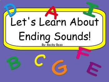 Let's Learn About Ending Sounds Smart Board Lesson