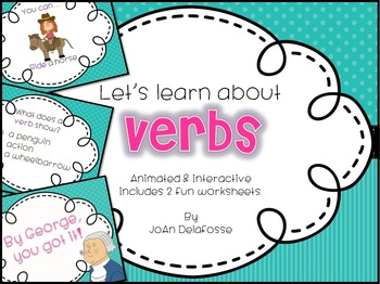 Let's Learn About Verbs! Interactive PPT CC Aligned - incl