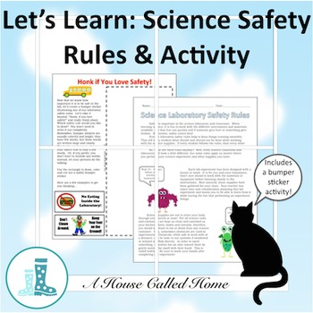 Let's Learn: Science Safety Rules and Bumper Sticker Activity