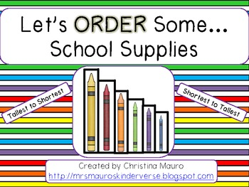Let's ORDER Some . . . School Supplies