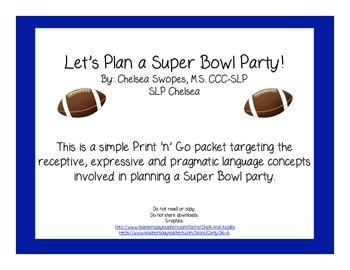Let's Plan a Super Bowl Party